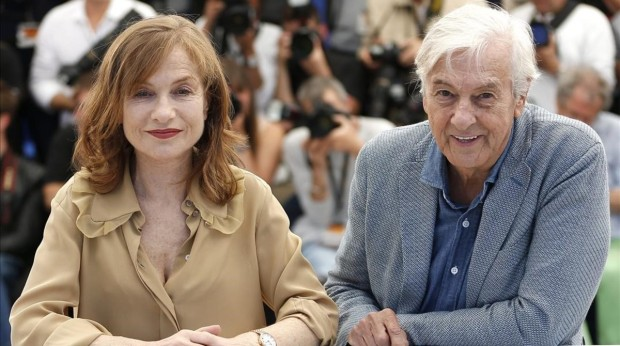 Cannes France 21 05 2016 - Dutch director Paul Verhoeven R and French actress Isabelle Huppert L pose during the photocall for Elle at the 69th annual Cannes Film Festival in Cannes France 21 May 2016 The movie is presented in the Official Competition of the festival which runs from 11 to 22 May Cine Francia EFE EPA JULIEN WARNAND