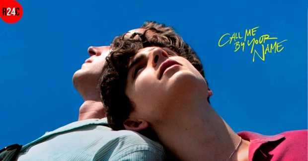 Poster Call me by your name con Timothée Chalamet y Armie Hammer