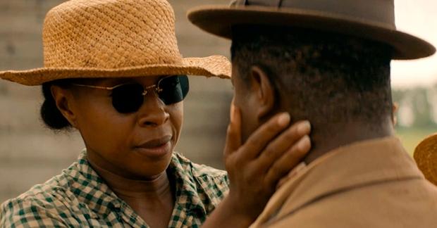 Escena de Mudbound con la nominada al Oscar Mary J. Blige y con Jason Mitchell